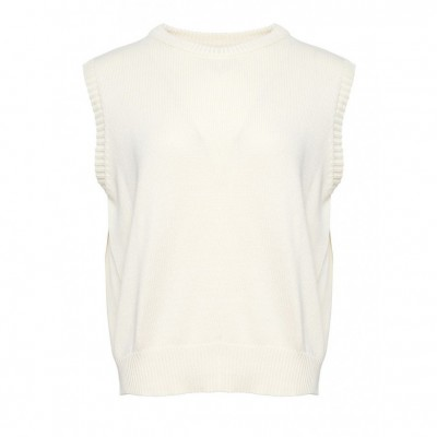 Noella - Alie Strik Vest Off White