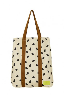 Gestuz - Gry tote bag Yellow black dot