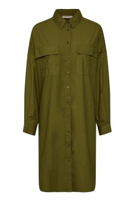 Gestuz - Stalia shirt dress Dark olive