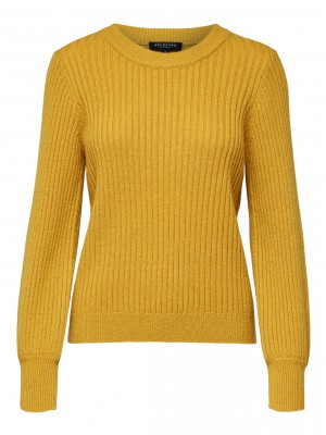 Selected Femme - Rianna Rib Knit Yellow