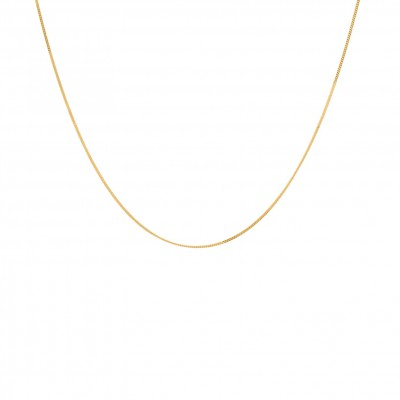 Anna + Nina - Plain Necklace Goldplated Short