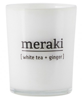 Meraki - Duftlys white tea + ginger