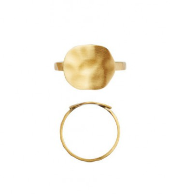 Stine A - HAMMERED COIN RING GOLD