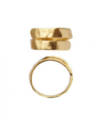 Stine A - Hammered Open Ring Gold