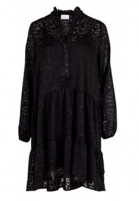 Neo Noir - Frederica Burnout Dress Black Leo