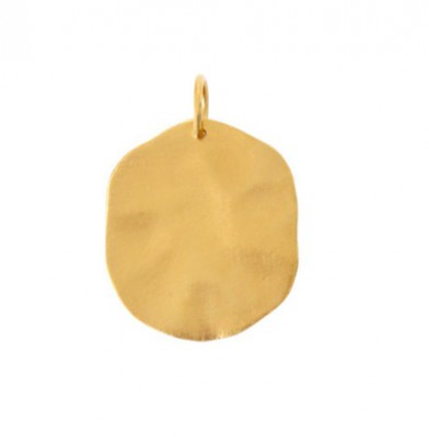 Stine A - HAMMERED COIN PENDANT GOLD*