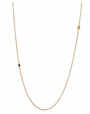 Stine A - Gold chain with coin & black spinel*