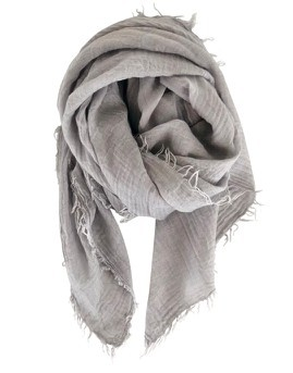 Black Colour - Eucalyptu scarf pearl grey