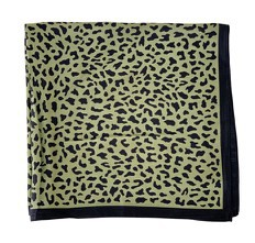 Black Colour - Portia mini leo scarf army