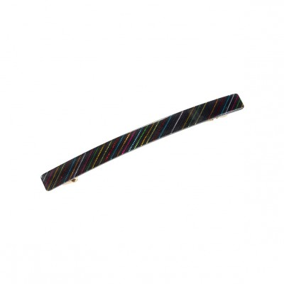 Pico - Frenchie Hair Clip Black/Rainbow
