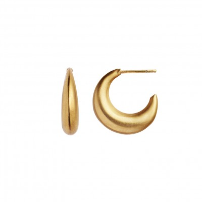 Stine A - Big Croissant Creol Earring Gold