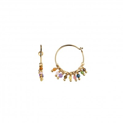 Stine A - Petit Rainbow Hoop With Stones