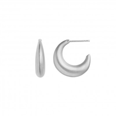 Stine A - Big Croissant Creol Earring Silver