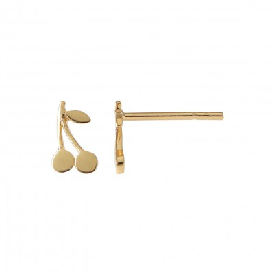 Stine A - Petit  Cherry Earring Gold