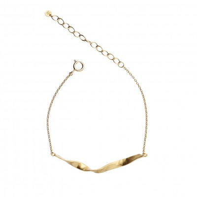 Stine A - Twisted Hammered Bracelet Gold