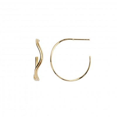 Stine A - Love Wave Creol Earring Gold