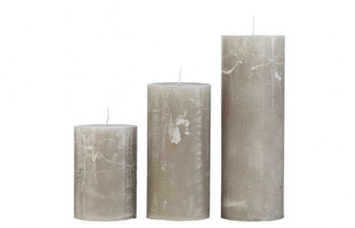 Cozy Living - Rustic candle Stone 10x25