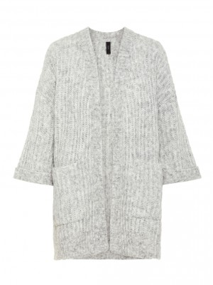 Y.A.S - Sunday Knit Cardigan Grey