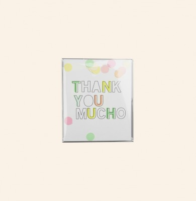 The Gift Label - Confetti card Thank You Mucho