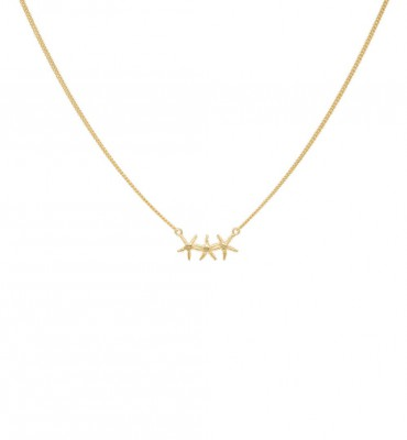 Anna + Nina - Starfish Trio Necklace