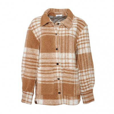 Noella Viksa jacket camel checks