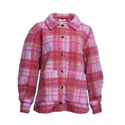 Noella Viksa jacket  fuchsia checks