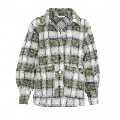 Noella Viksa jacket  grey/green checks