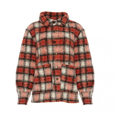 Noella Viksa jacket orange checks