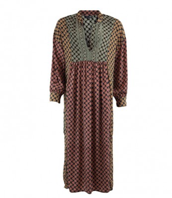 Black Colour - Luna kaftan dress leaf