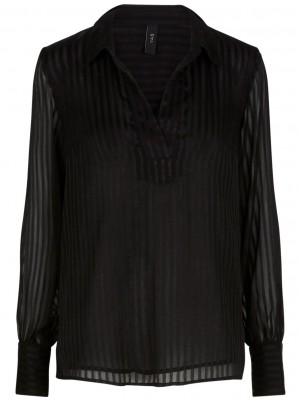 Y.A.S - Fino Shirt Black
