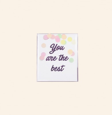 The Gift Label - Confetti Cards you are the best