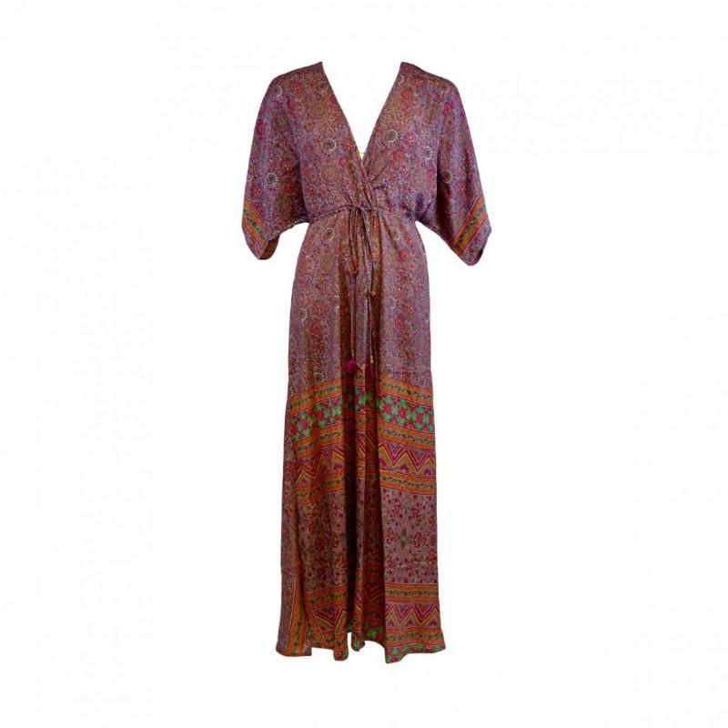 1c7a3913a7b8 Smuk lang kjole i smukt print fra Black Colour